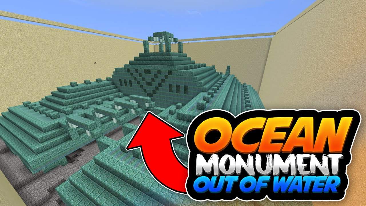 OCEAN MONUMENT OUT OF WATER!! - MCPE 11.11.11 Map Showcase - Minecraft PE  (Pocket Edition)