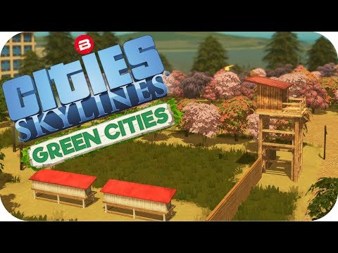 Cities: Skylines Green Cities ▶AMAZING CUSTOM PARK MOD!!◀ Cities Skylines Green City DLC Part 12