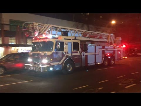 Vancouver Fire & Rescue Services - Rescue Engine 7 & Ladder 7 Responding