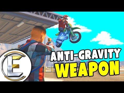 Anti-Gravity Gun, Pick Up Police Cars And Throw Them Miles! - GTA RP