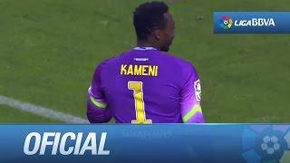 Lanzamiento de penalti de Cavaleiro que salva Kameni