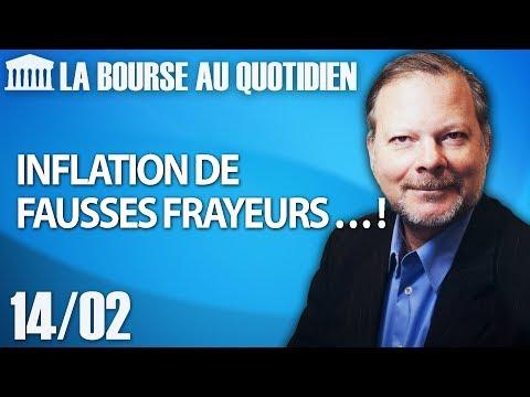 Bourse au Quotidien - Inflation de fausses frayeurs … !