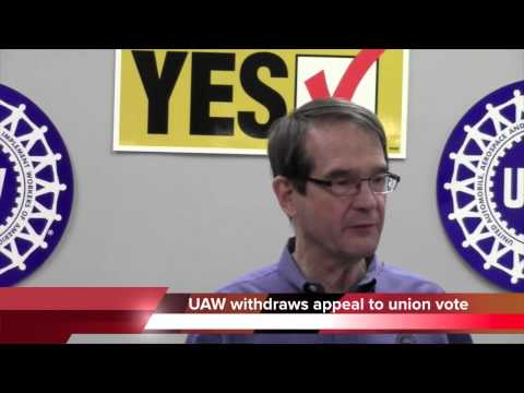 UAW withdraws appeal of Chattanooga VW plant union vote