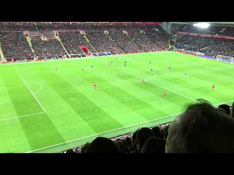 When the Reds go marching in, Liverpool FC song, LFC vs. Chelsea FC, 25.11.2017 @ Anfield stadium