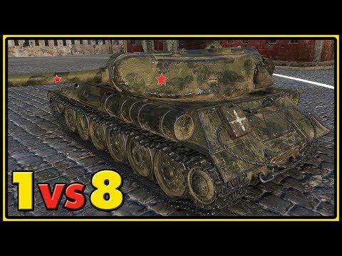 IS-M - 13 Kills - 1 vs 8 - World of Tanks Gameplay