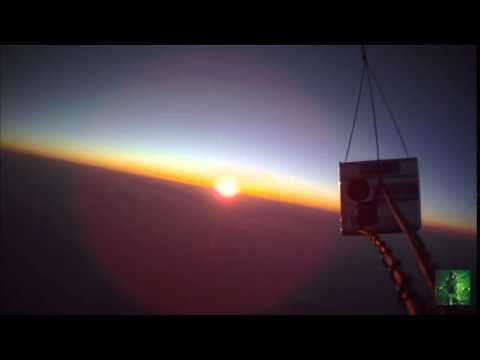 Flat earth amateur high altitude balloon video sun strange anomaly