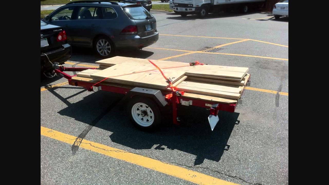 assembling the harbor freight folding trailer 90154 [ 1280 x 720 Pixel ]