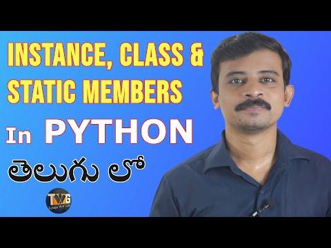PYTHON TUTORIAL IN TELUGU - Part 13   Variables and Methods in Python   Telugu Web Guru thumbnail