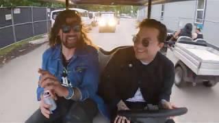 Adam Lazzara & Frank Iero   Artists in Golf Carts Getting Catering YouTube Videos