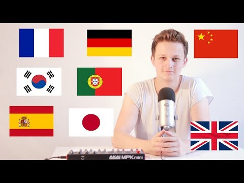 ed sheeran - shape of you but I'm singing it in 8 different languages