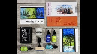 How to - Cardmaking Crafty hack: 2 alcohol ink cards at once with Rubbernecker and Scrapbook.com
