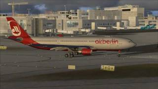 FS2004: Flight from Miami Intl. Airport to Airport Frankfurt / Main with A330 Airberlin.mp4