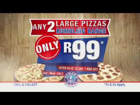R99 for Any 2 Large Pizzas from Rumbling Range