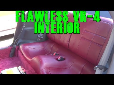 Installing New VR-4 Red Leather Interior And Dashboard Removal