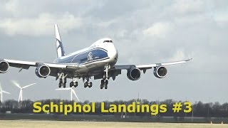 Plane spotting at Schiphol Amsterdam Airport #3 Full HD