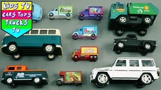 New City Vehicles For Kids Children Babies Toddlers | Garbage Truck Jeep Van Disney Cars
