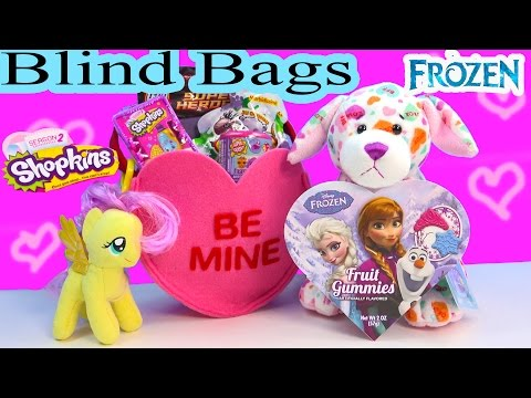Frozen Candy Valentines Shopkins Season 2 Be Mine Surprise Mystery Tote Blind Bags MLP Webkinz