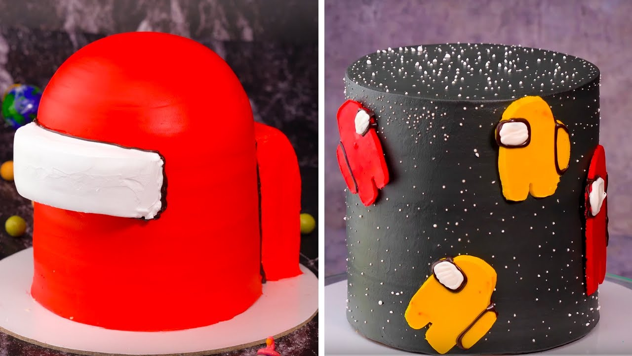 AMONG  US but It's a CAKE | Fancy Birthday Cake Decorating Ideas To Impress Your Friends | So Yummy