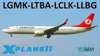x plane 11 istanbul larnaca b757 b738 a320 vatsim mykonos istanbul larnaca tel aviv