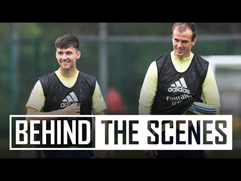 🤣 Kieran Tierney's new nickname! | Arsenal train ahead of the north London derby