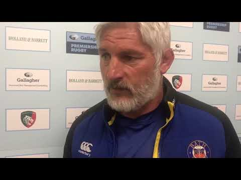 Blackadder speaks after securing Heineken Champions Cup Rugby at Welford Road