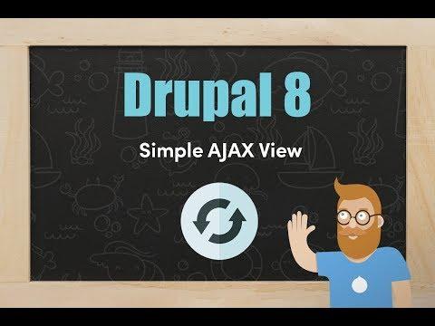 Create a simple AJAX view in Drupal 8 thumbnail