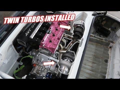 Twin Turbo Mr2 Has A Manifold! (Looks Crazy)