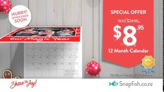 Christmas in New Zealand - Wall Calendar just $8.95