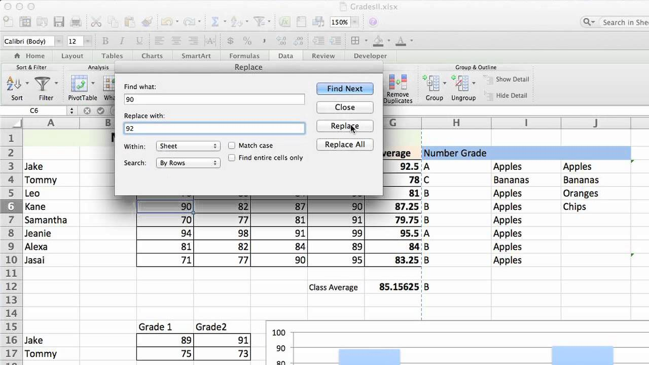How to Substitute Values on Microsoft Excel : Excelling at ...
