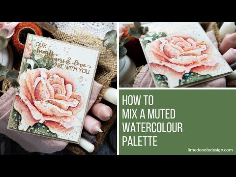 Mixing A Muted Watercolour Palette