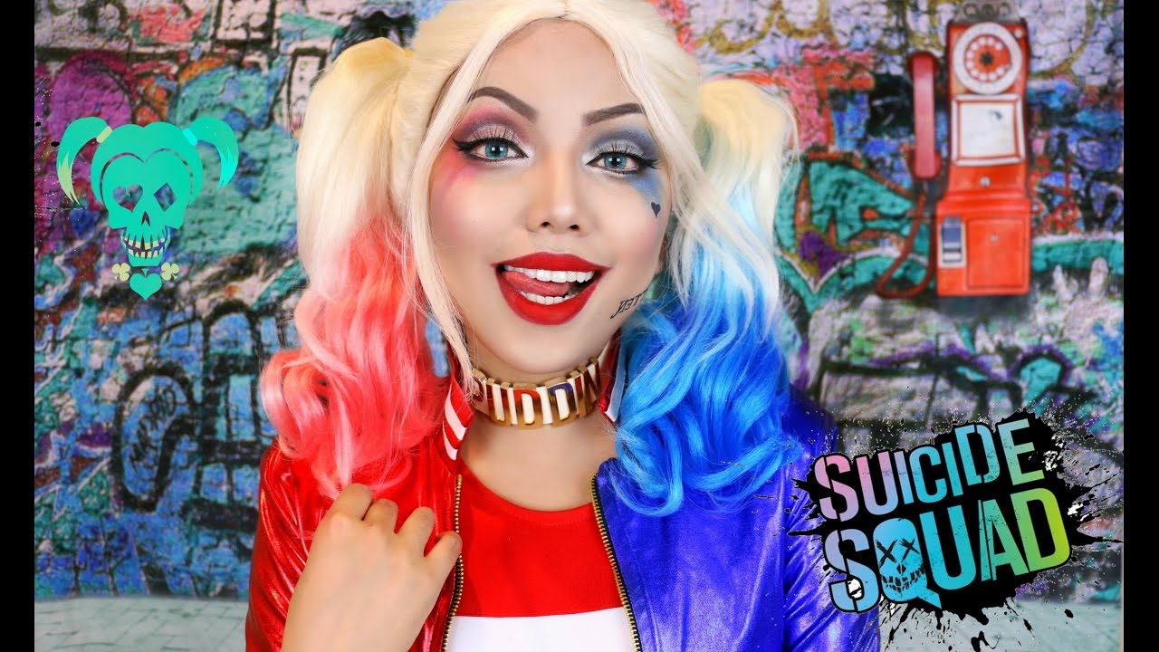 2554253ae6a9 HARLEY QUINN  Suicide Squad Makeup Tutorial !!! - YouTube