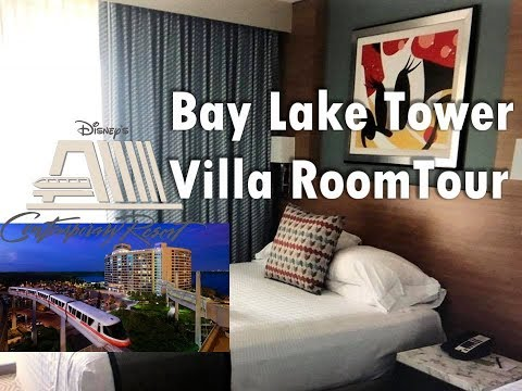 Disney's Contemporary Bay Lake Tower Room and Resort Full tour!!!