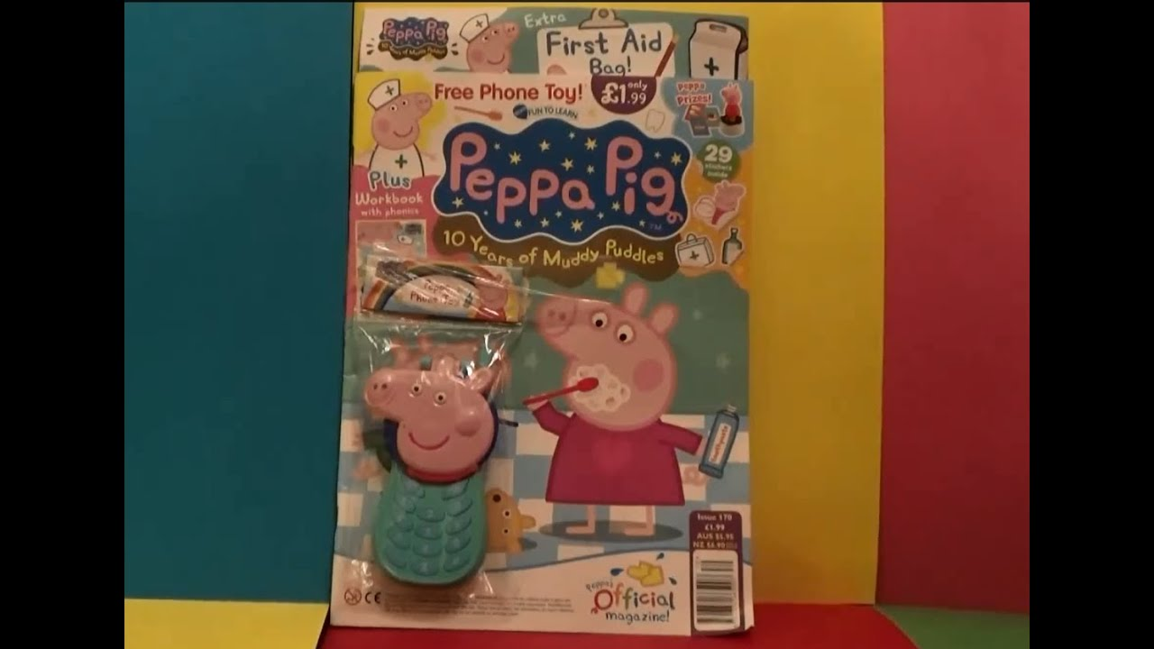 Toys Easter Magazine : Peppa pig magazine with surprise toy fun learning