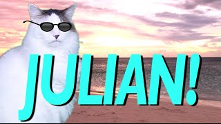 HAPPY BIRTHDAY JULIAN! - EPIC CAT Happy Birthday Song