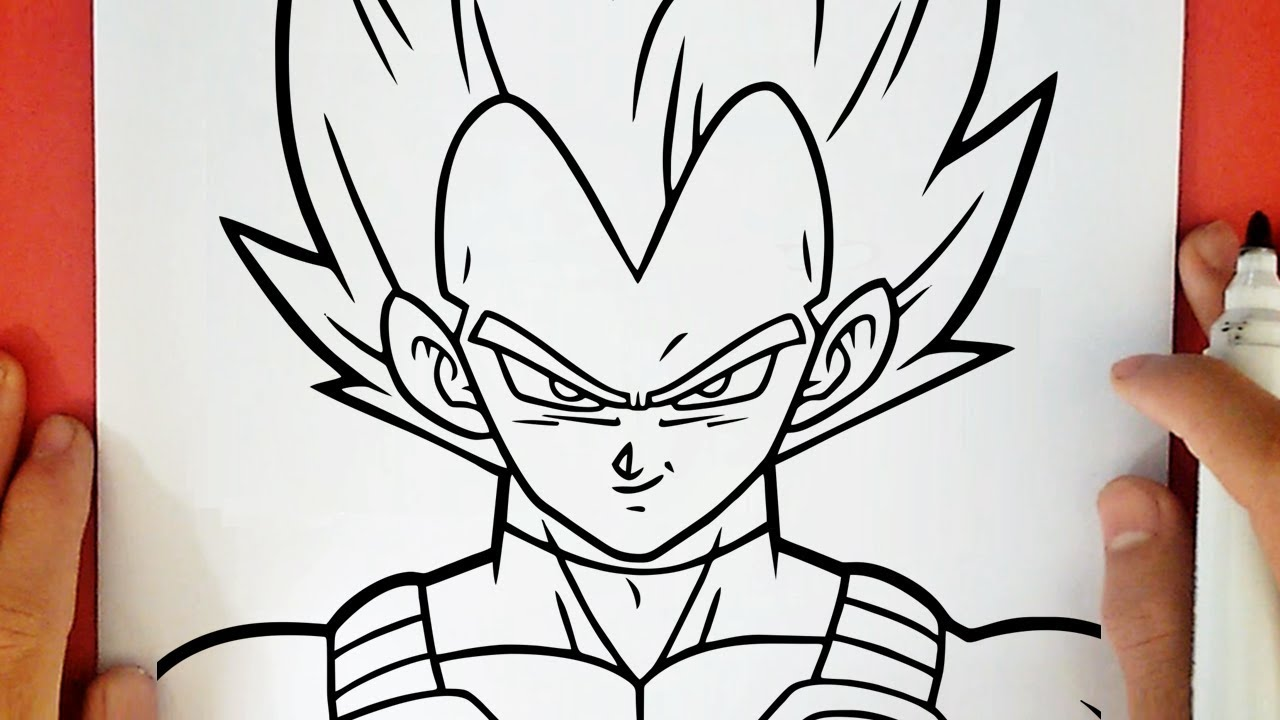 Como Dibujar A Vegeta Super Saiyajin Dios Azul Youtube