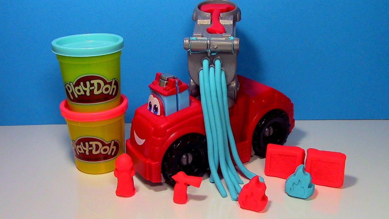 Play Doh Diggin Rigs Boomer the Fire Truck Play Doh Fire Engine - YouTube