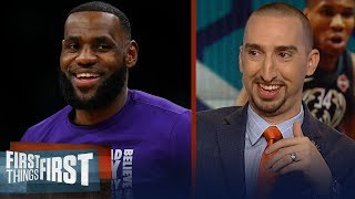 Nick Wright reacts to LeBron and Giannis' All-Star Draft & East Elite | NBA | FIRST THINGS FIRST