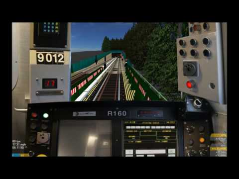 OpenBVE HD: Operating NYC Subway Kawasaki R160B Siemens 9012 School Car (Astoria to Brighton Beach)