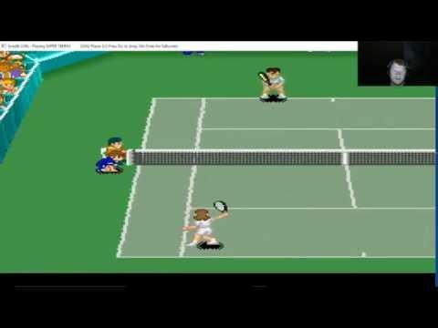 Super Tennis Gameplay Super Nintendo
