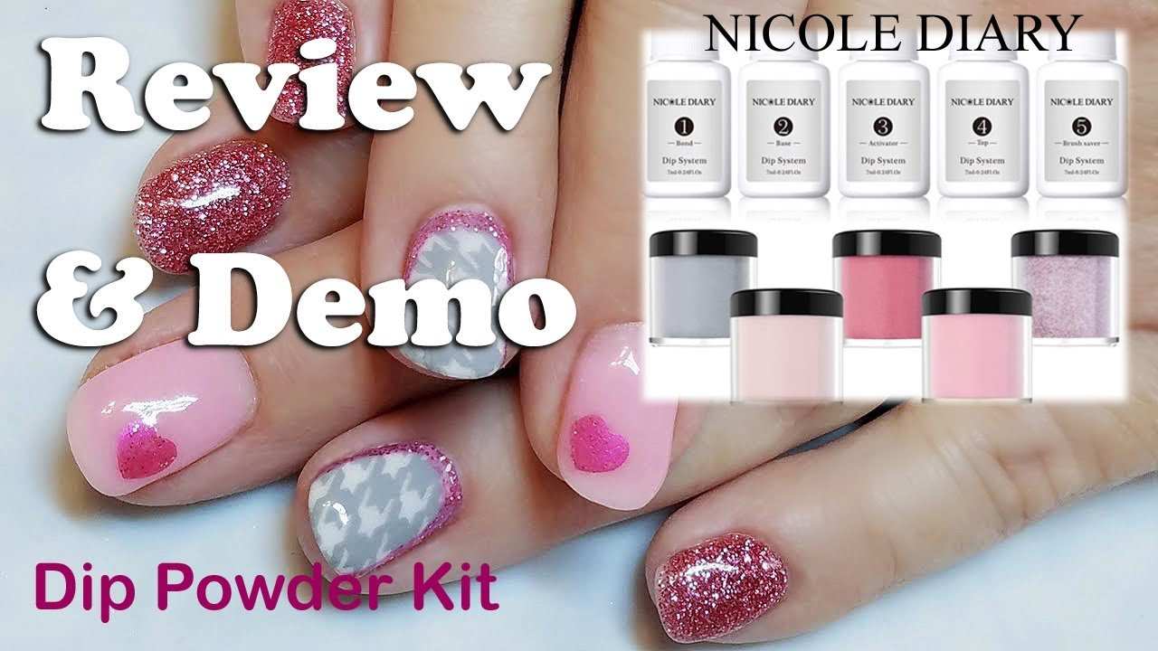 Nicole Diary 5 Color Dip Powder Kit Review Swatches