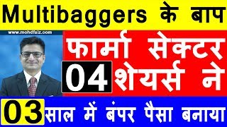 Multibaggers के बाप  फार्मा सेक्टर 04 शेयर्स | Best Shares to Buy In 2020 | Long Term Investment