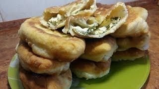 Пирожки на Кефире с Творогом и Зеленью