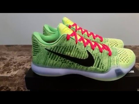 82be80caad48 NIKEiD Kobe X Elite Low QS Coal Hearted Grinch - YouTube