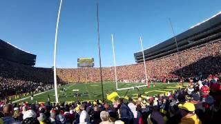 """Ohio State Fans """"Stadium Ohio"""" Cheer in Michigan Stadium at Ohio State-Michigan Game 11/30/13"""