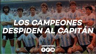 LOS CAMPEONES DEL 86 DESPIDIERON A DIEGO MARADONA - TFN