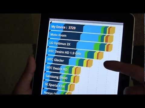 Samsung Galaxy Tab 10.1 benchmark tests