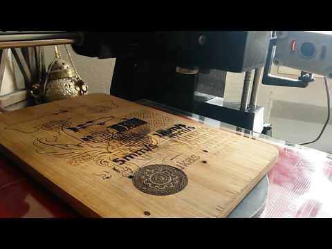 Laser engraving picture on wood with 2W laser diode