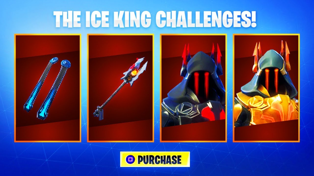 Max Tier 100 Ice King Skin Upgrades Fortnite Ice King Challenges
