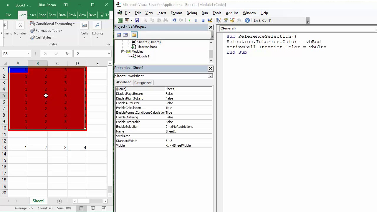 Reference a Selection of Cells, the Active Cell & Current Region in Excel  VBA