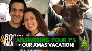 Personal FAQs Our Travel Plans VLOGMAS Day 6